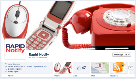 Rapid Notify Facebook Timeline