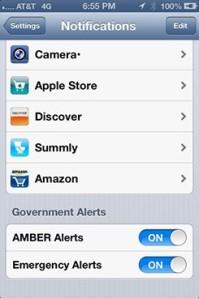 WEA alerts iOS